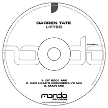 DT002CD: Darren Tate - Lifted