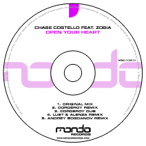 MND102CD: Chase Costello feat. Zosia - Open Your Heart